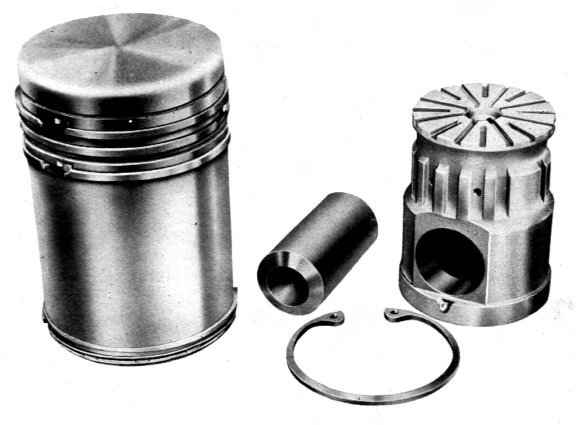 parts form passages, beneath the piston crown and behind the piston ...